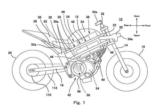 Kawasaki-electric-motorcycle-patent-image-placement-of-motor-and-batteries.jpg