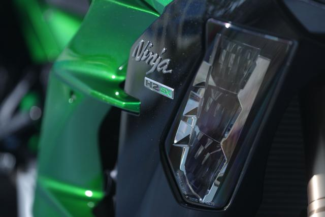 Kawasaki Nina H2 SX cornering lights