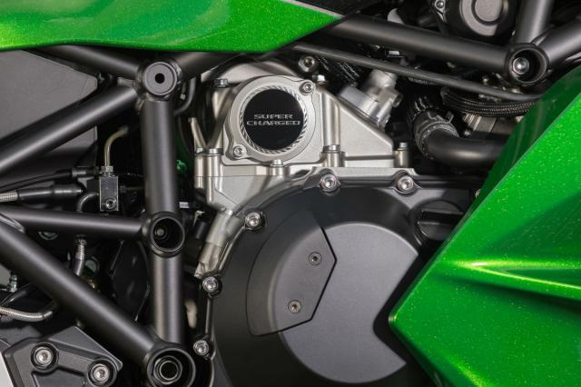 Kawasaki Nina H2 SX supercharged badge